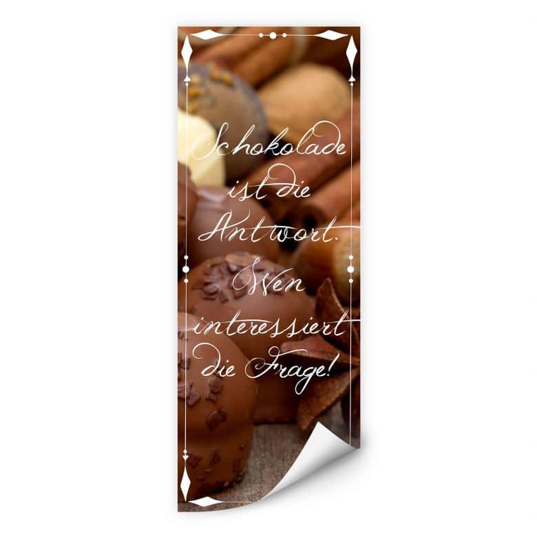 Wallprint W - Schokolade ist die Antwort… - Panorama