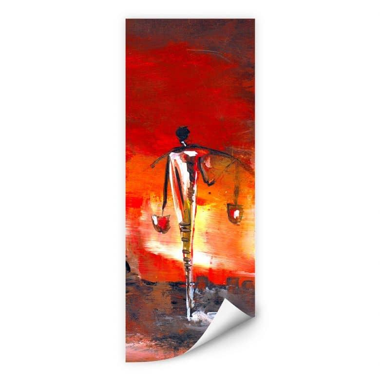 Wallprint W - Niksic - Colorful in Africa - Panorama