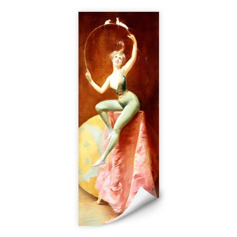 Wallprint Penot - Tänzerin mit drei weißen Mäusen