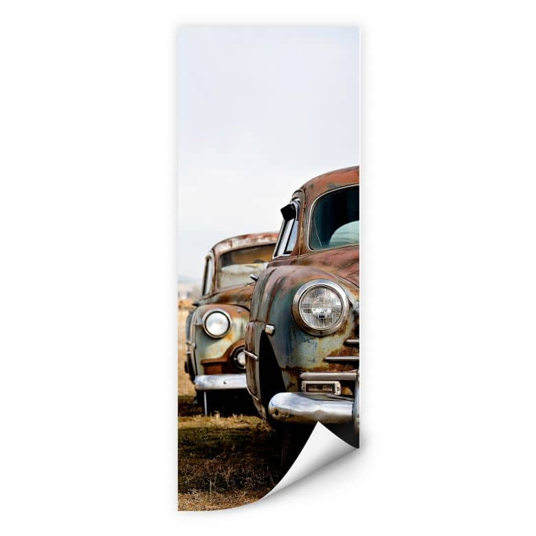 Wallprint Old Rusted Cars - Panorama