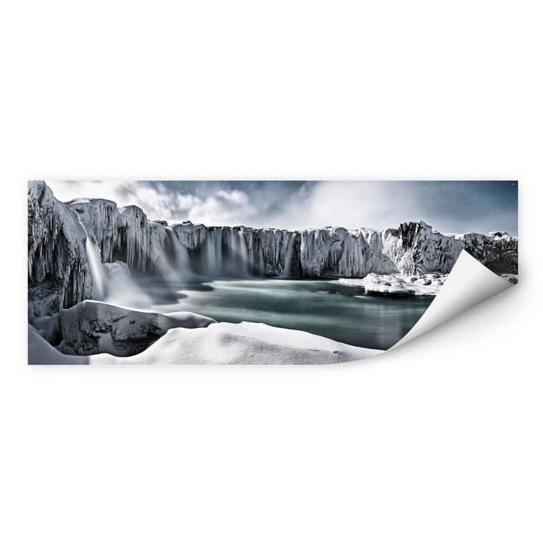 Wallprint Shcherbina - Islands Wasserfälle - Pano