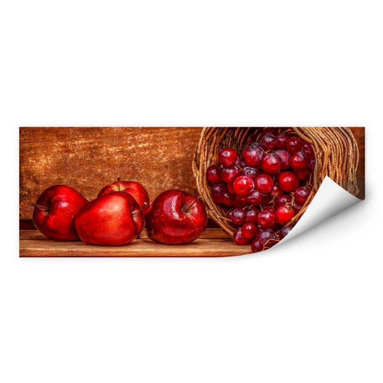 Wallprint Perfoncio - Rote Früchte - Panorama