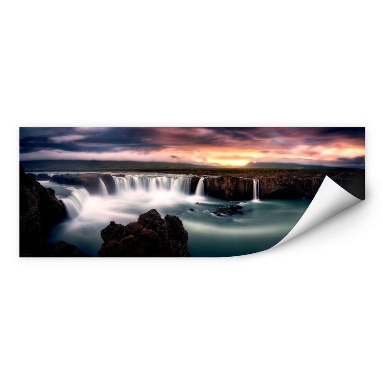 Wallprint Mitterwallner - Fire and Water - Panorama