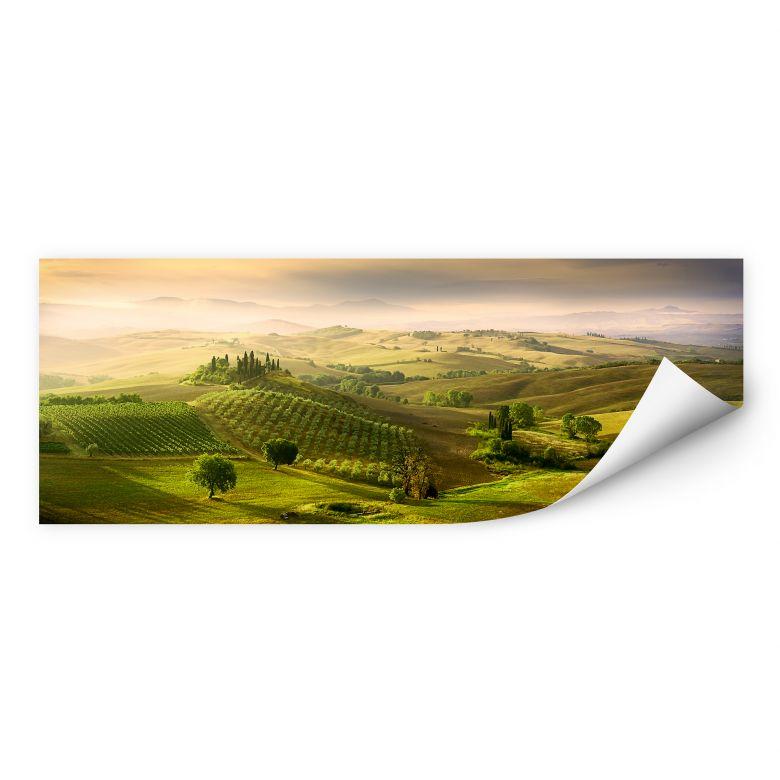 Zelfklevende Poster Bratkovic - Podere Belvedere - panorama