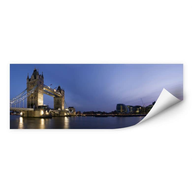 Wallprint W - Tower Bridge an der Themse - Panorama