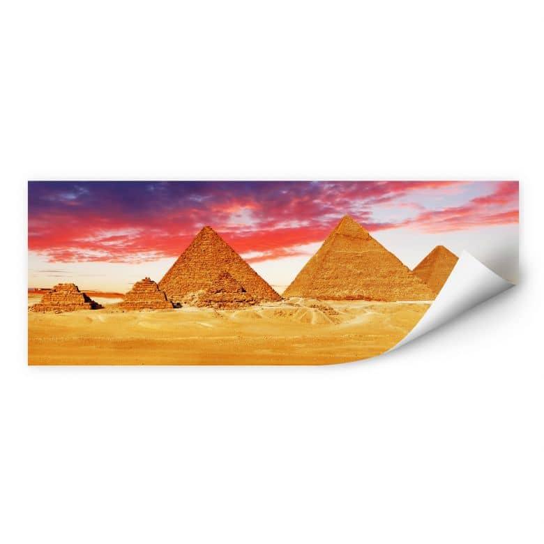 Wallprint W - Die Pyramiden von Gizeh - Panorama