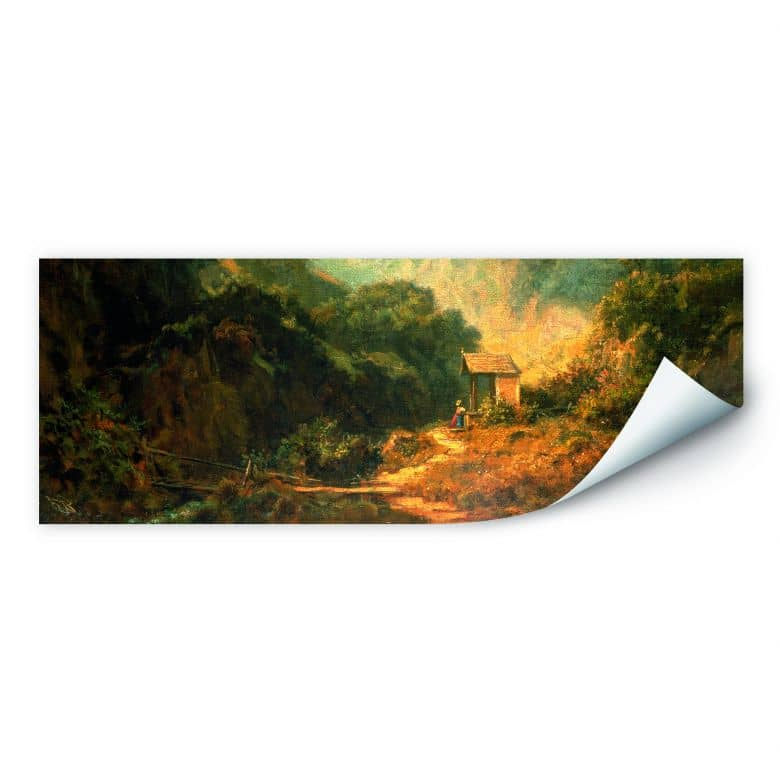 Wallprint W - Spitzweg - Felsental mit Kapelle - Panorama