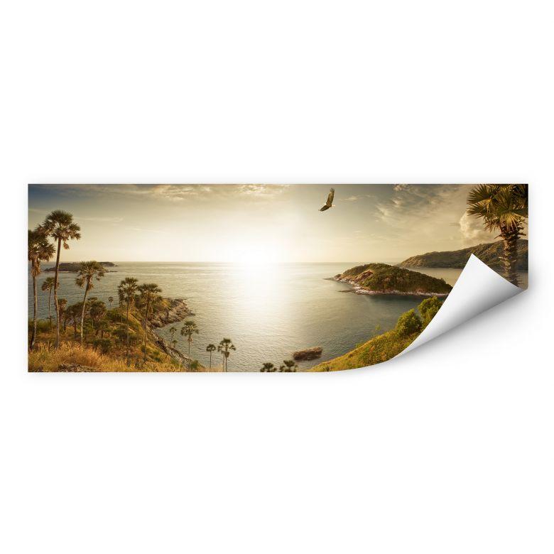 Wallprint Sonnenuntergang im Paradies - Panorama