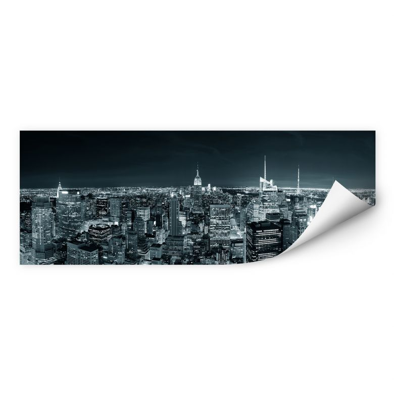 Wallprint W - New York at Night 2 Panorama