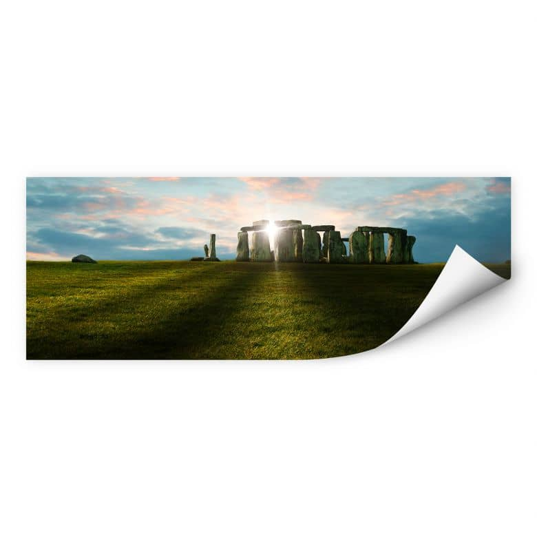 Wallprint W - Stonehenge im Sonnenuntergang- Panorama