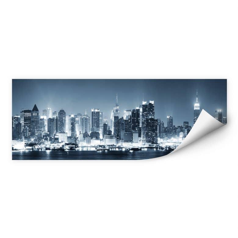 Zelfklevende Poster - New York at Night