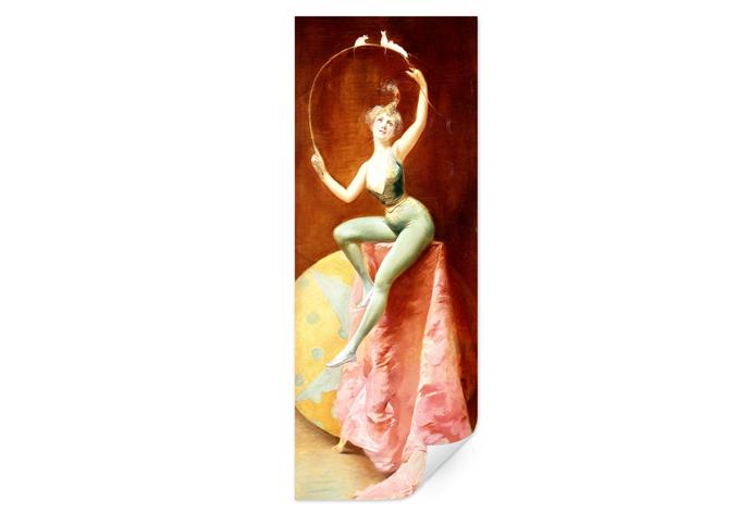 Poster Penot - Tänzerin mit drei weißen Mäusen