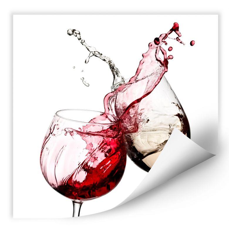 Wall Print Wine Glasses