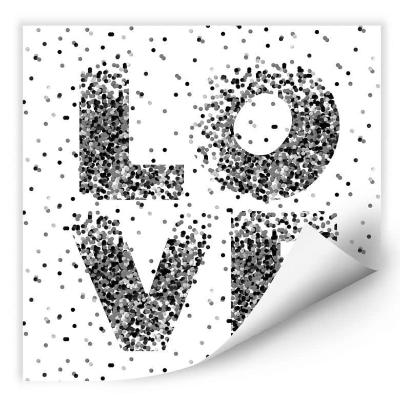 Wallprint W - Konfetti in Love - quadratisch
