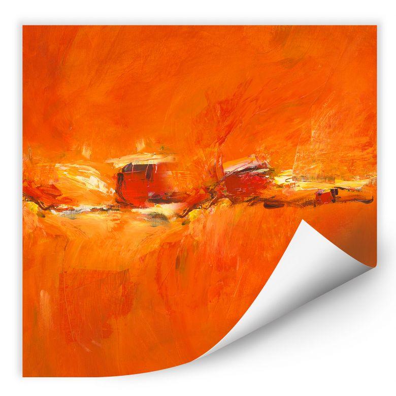 Wallprint W - Schüßler - Composition in Orange