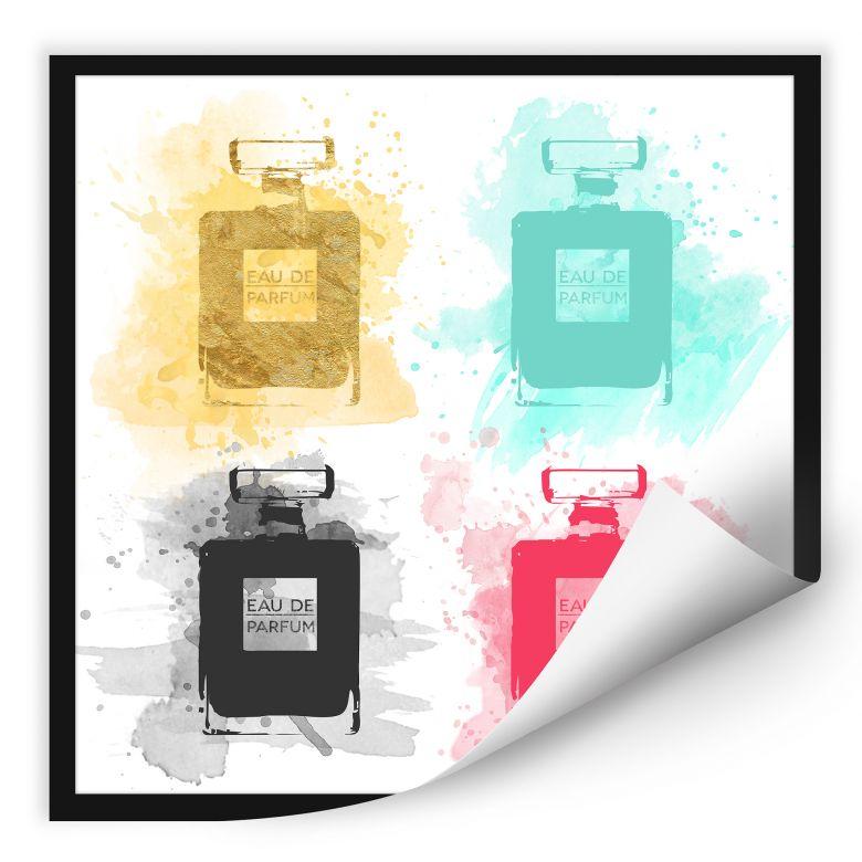 Wallprint W - Eau de Parfum Aquarell - bunt