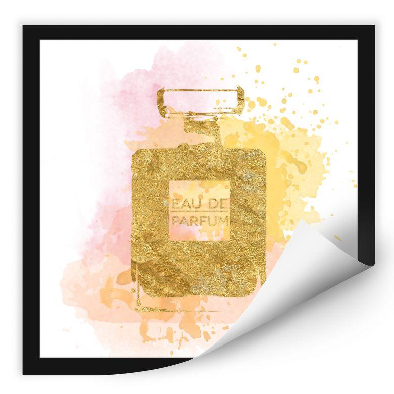 Wallprint W - Eau de Parfum Aquarell - Gold