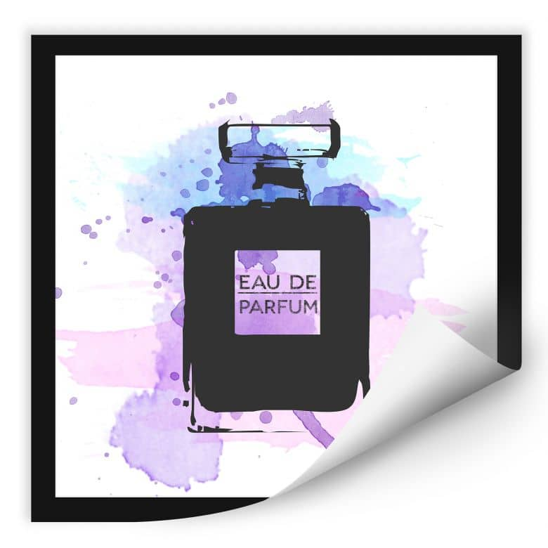 Wallprint W - Eau de Parfum Aquarell - Grau