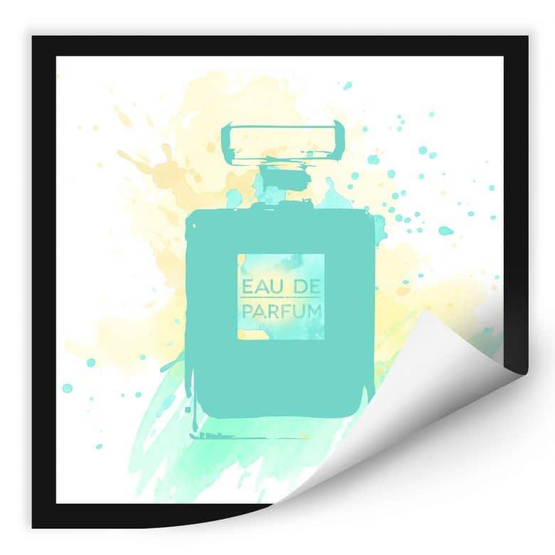 Wallprint W - Eau de Parfum Aquarell - Mint