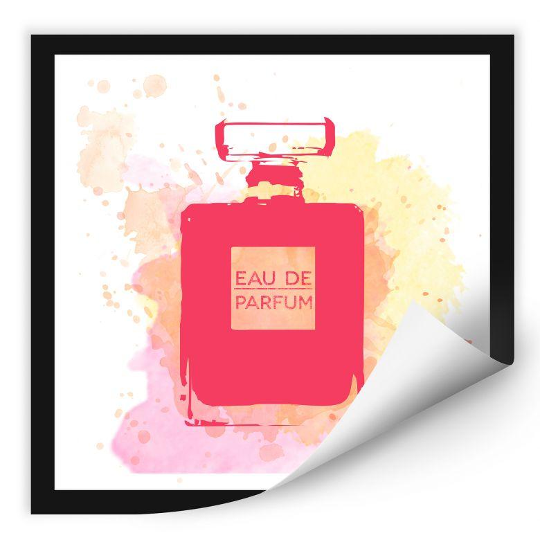 Wallprint W - Eau de Parfum Aquarell - Pink
