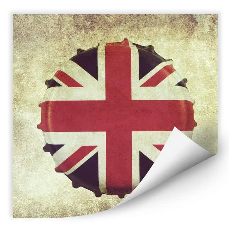 Wallprint W - Britischer Kronkorken