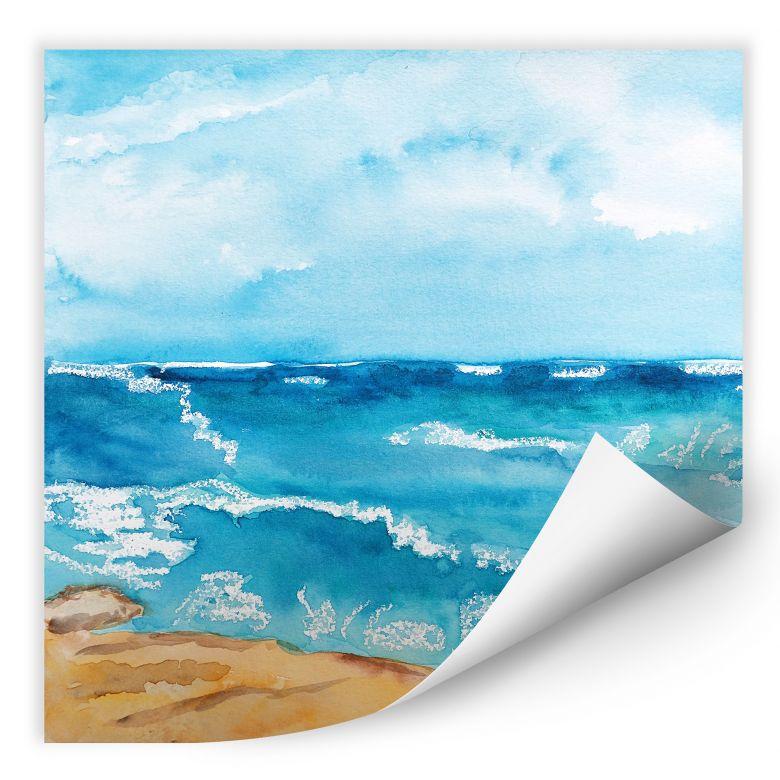 Wallprint Toetzke - Meeresrausch - quadratisch