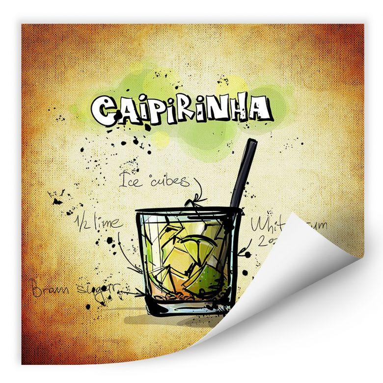 Wallprint Caipirinha - Rezept