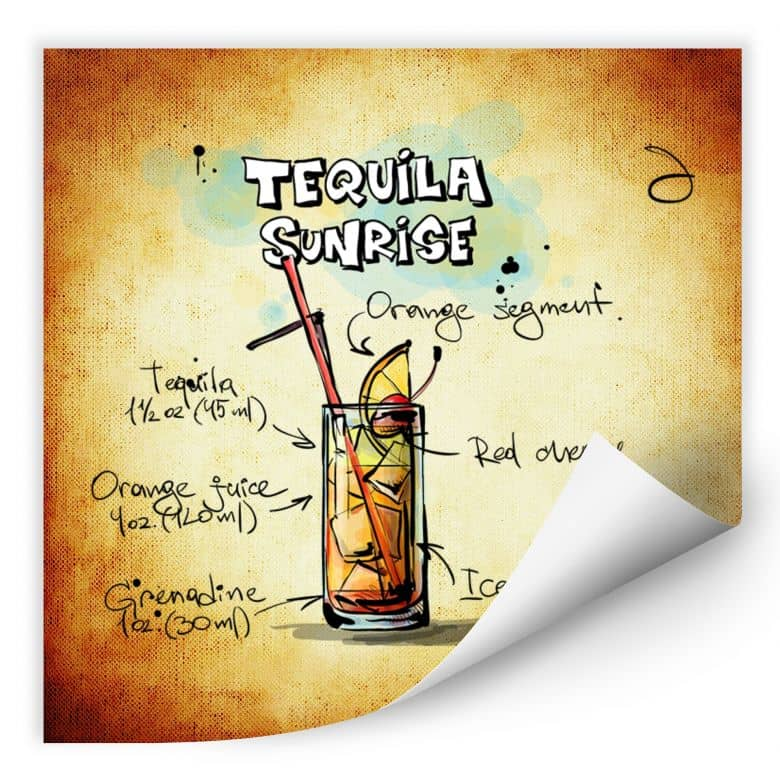 Wallprint Tequila Sunrise - Rezept