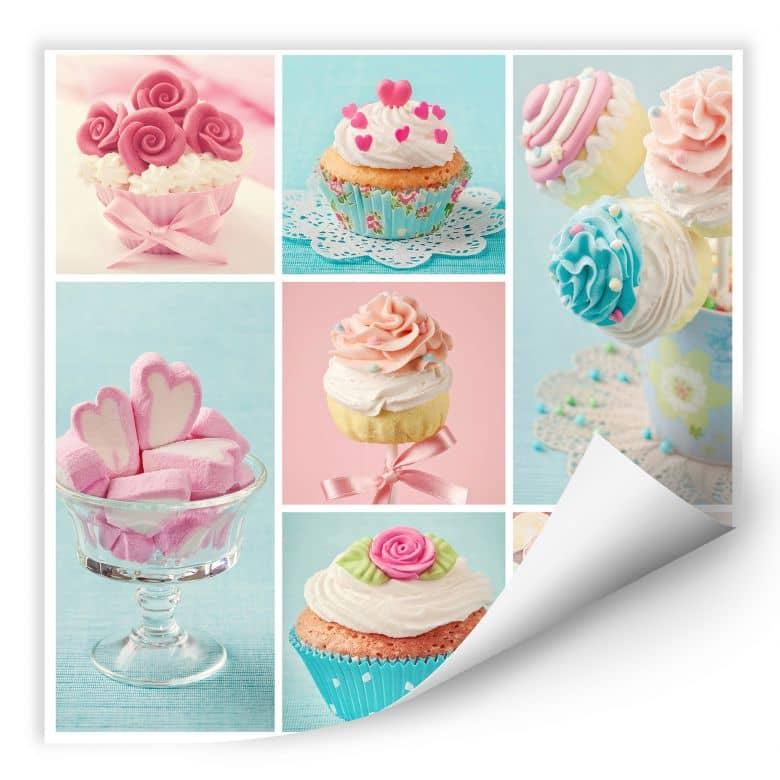 Wallprint W - Cupcake Collage