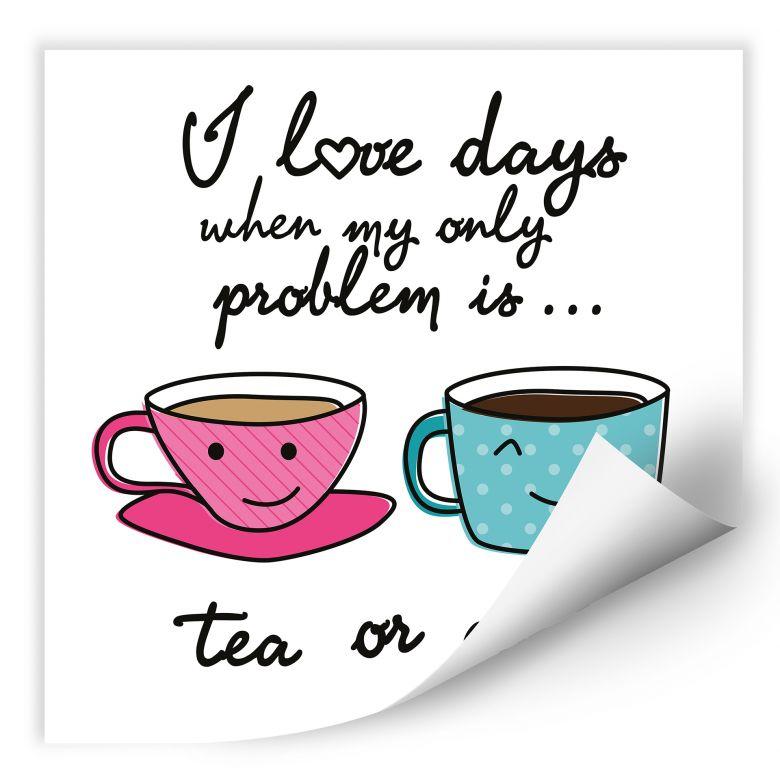 Wallprint W - Tea or Coffee