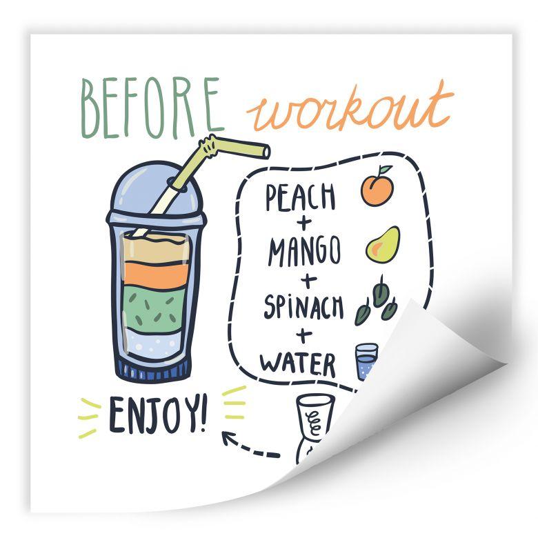 Wallprint Before Workout - quadratisch