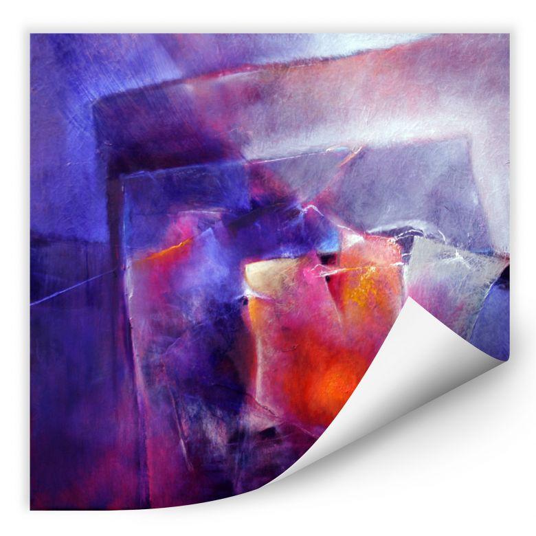Wallprint Schmucker - Blau und Orange