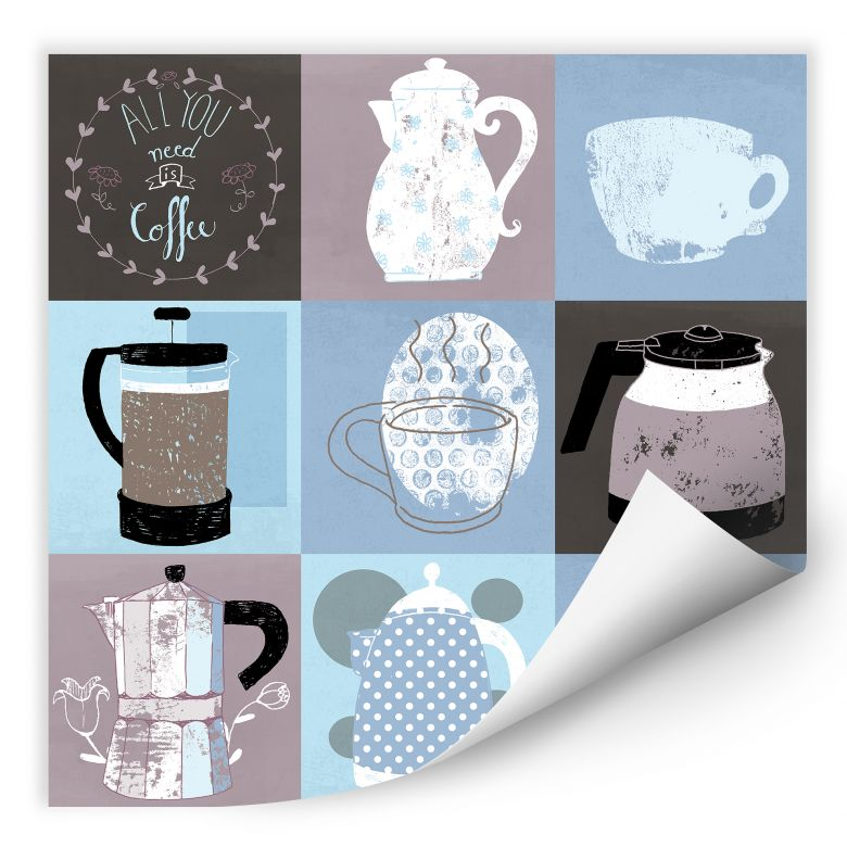 Wallprint Loske - Coffee Time