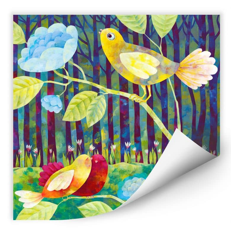 Wallprint Blanz - Vögel im Wald