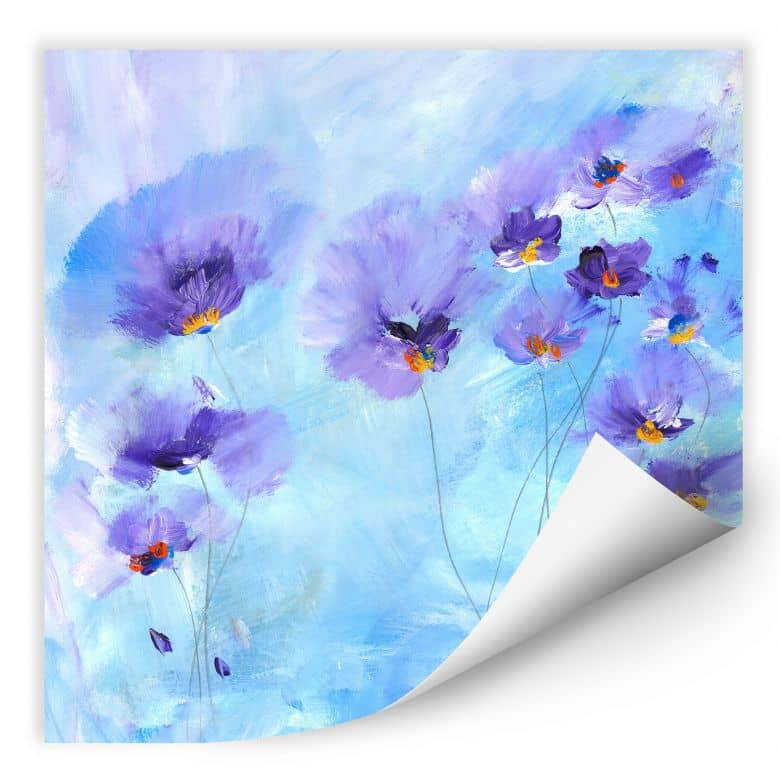 Wallprint Niksic - Rhapsody Blue - quadratisch