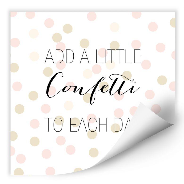 Wallprint Confetti & Cream - Add a little confetti
