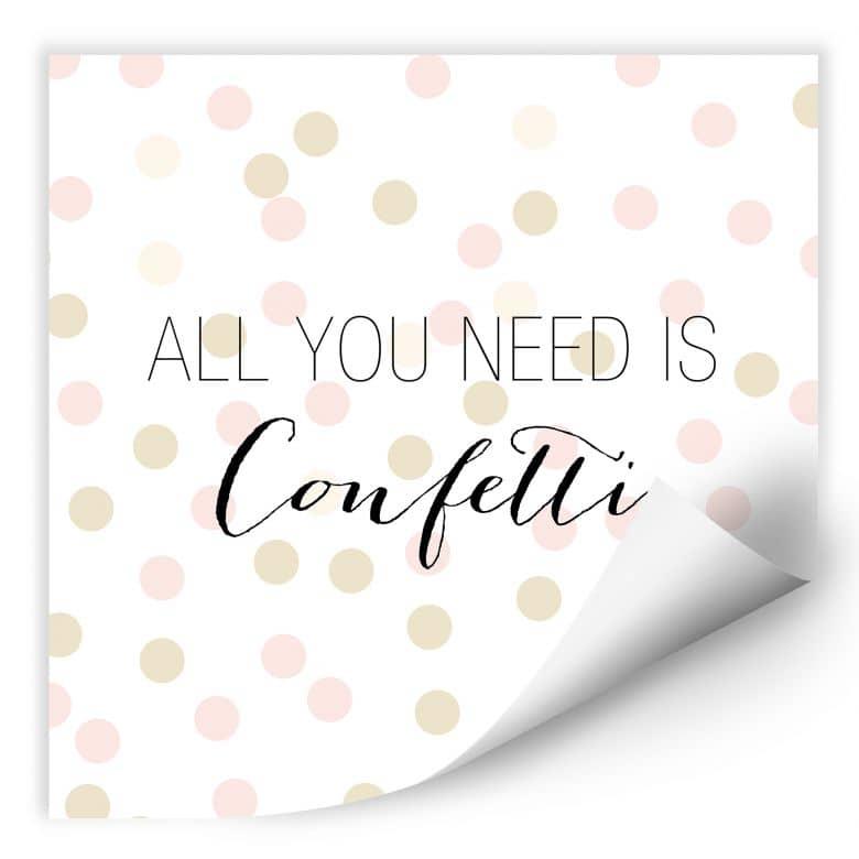 Wallprint Confetti & Cream - All you need is confetti