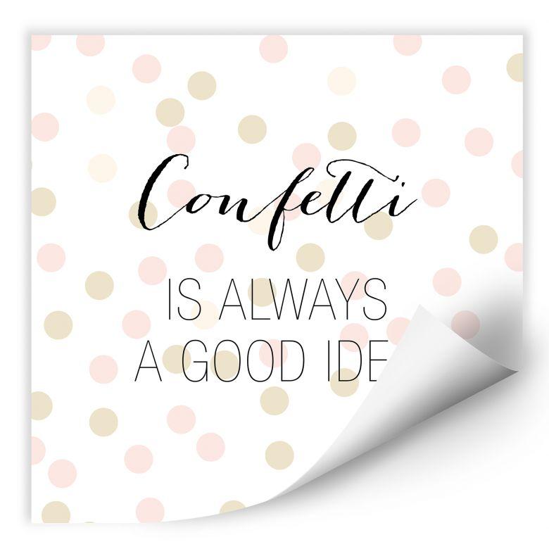 Wallprint Confetti & Cream - Confetti is always a good idea