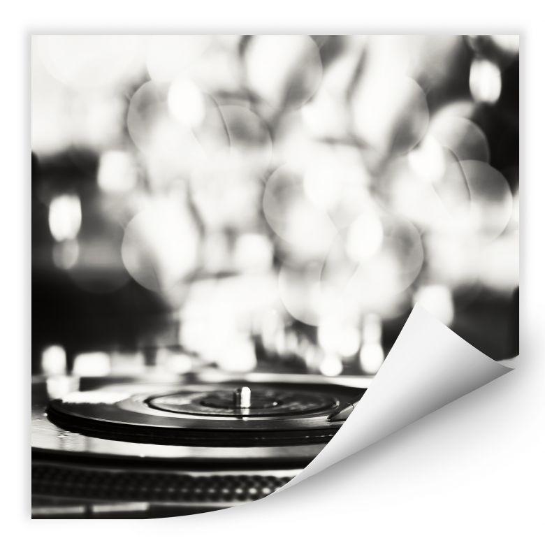 Wallprint W - Vinyl Record on Turntables