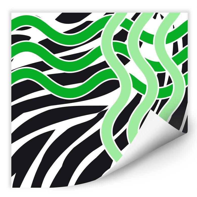 Wallprint W - Welle grün