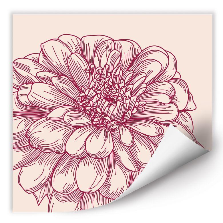 Wallprint W - Blüte Illustration