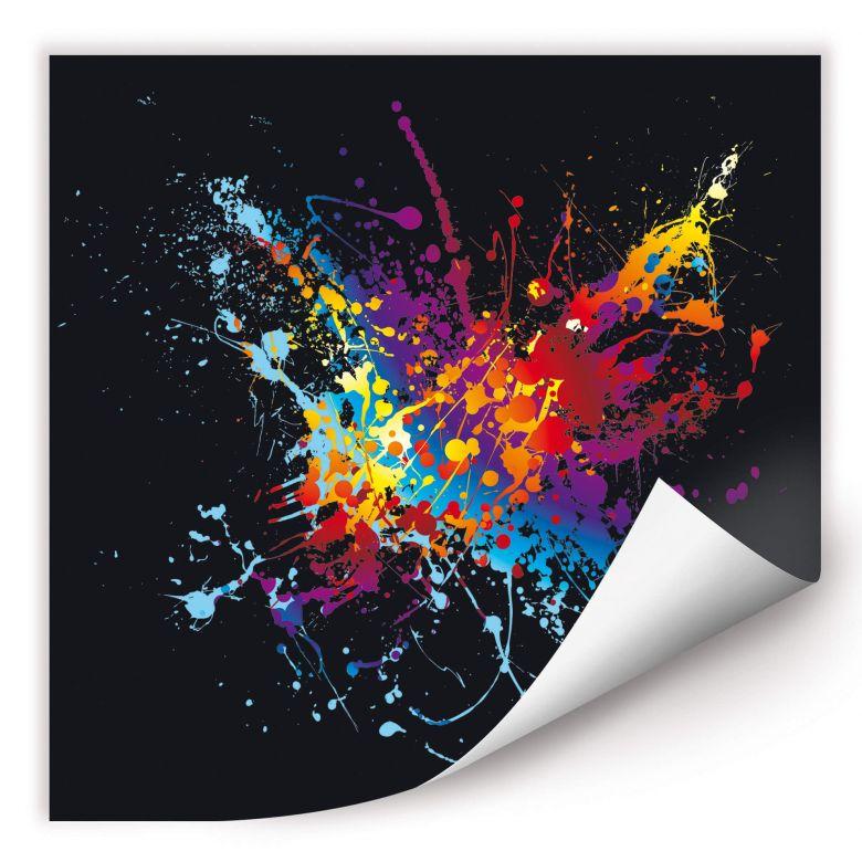 Wallprint W - Farbenexplosion