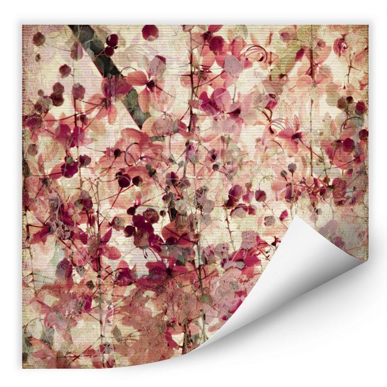 Wallprint - Motivo floreale vintage