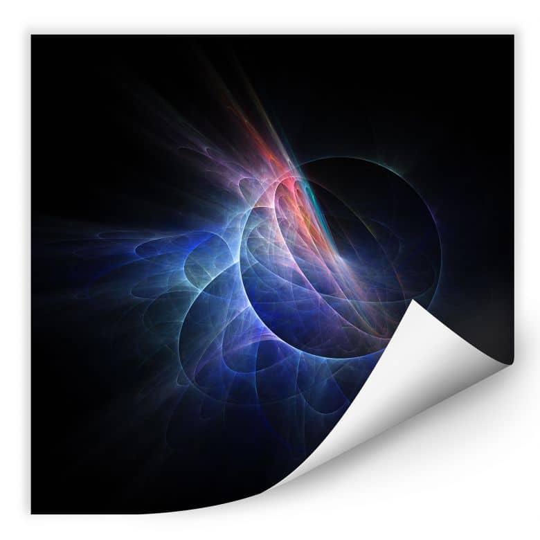 Wallprint chaos ray black stylische deko f r die wand - Stylische wandfarben ...