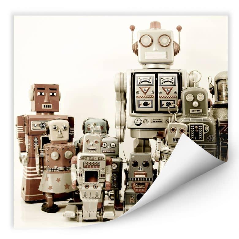 Wallprint W - Versammlung der Roboter