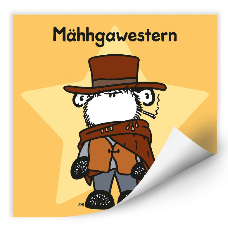 Wallprint W - sheepworld Mähhgawestern