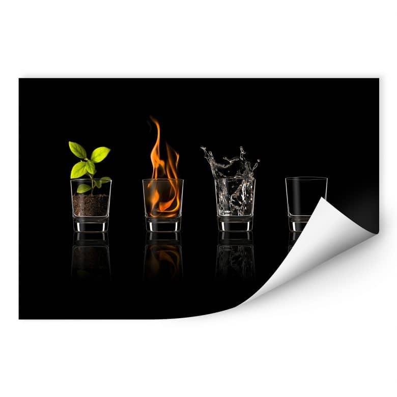 Zelfklevende Poster - Frutos Vargas - The Four Elements