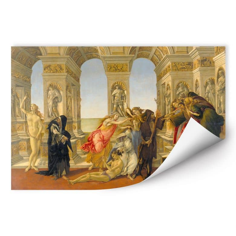 Wallprint W - Botticelli - Die Verleumdung des Apelles