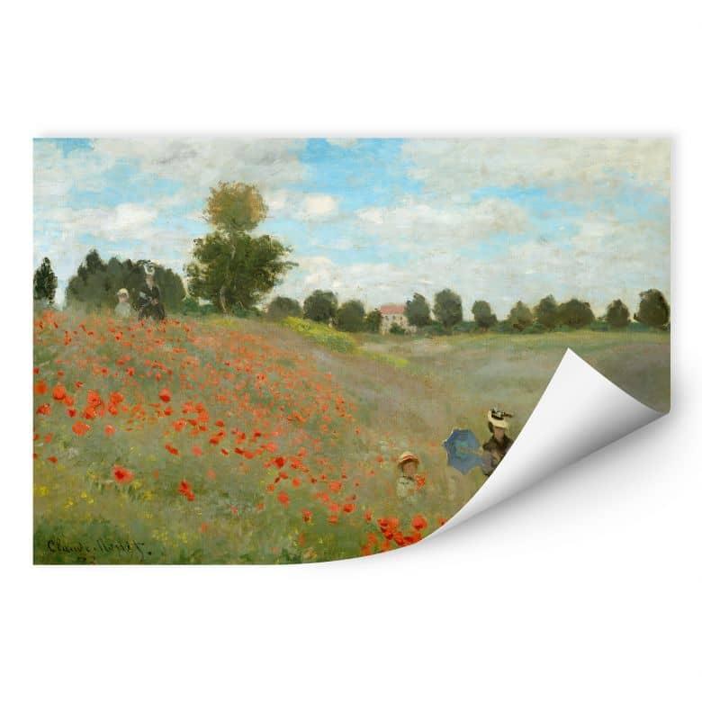 Wallprint W - Monet - Mohnfeld bei Argenteuil