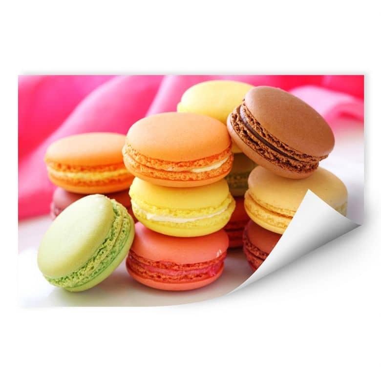Zelfklevende Poster  Sweet Macarons